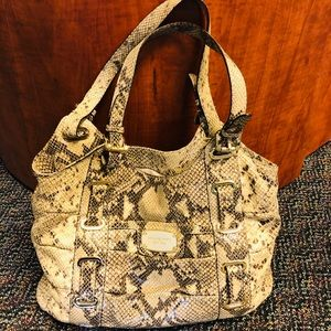 Michael Kors Python Print Leather Large handbag